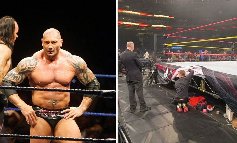 Batista used to hide inhalers under the ring