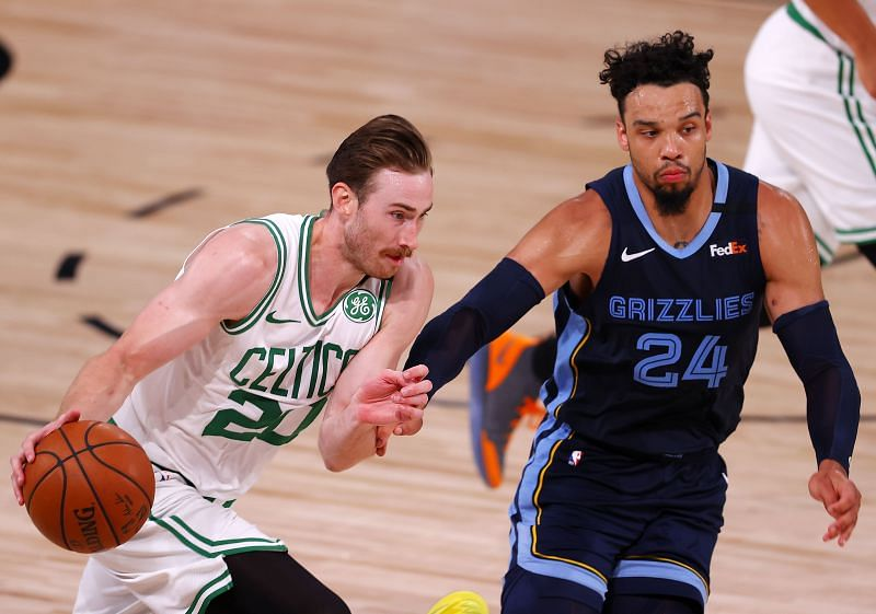 Gordon Hayward (left) has a player option to remain with the Celtics or become a free agent.