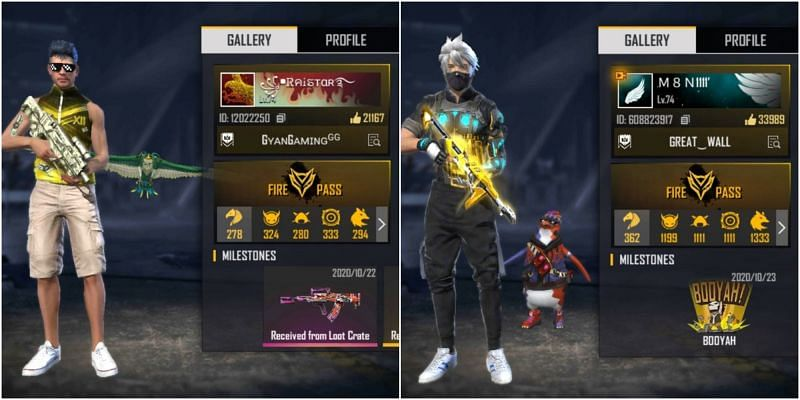 Who has better stats between Raistar and M8N in Free Fire?
