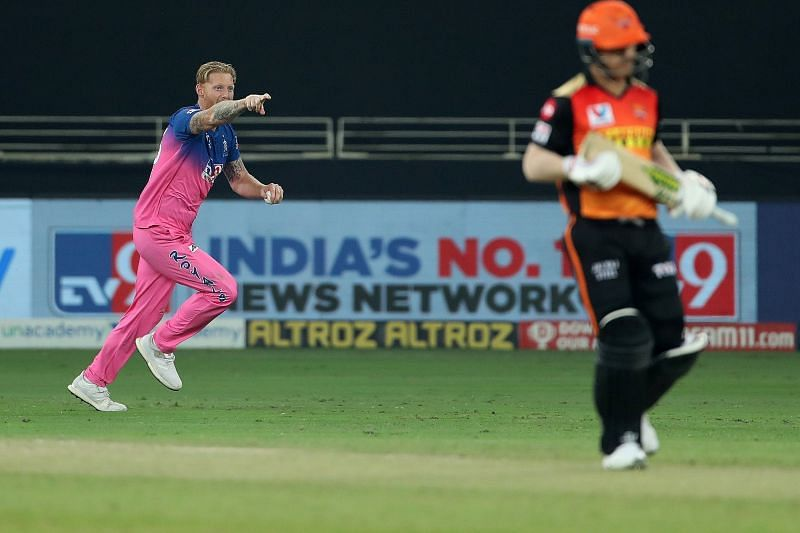 David Warner had to walk off within the first over of the SRH chase. [PC: iplt20.com]