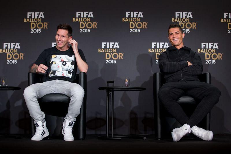 Lionel Messi and Cristiano Ronaldo have a staggering 11 Ballon d