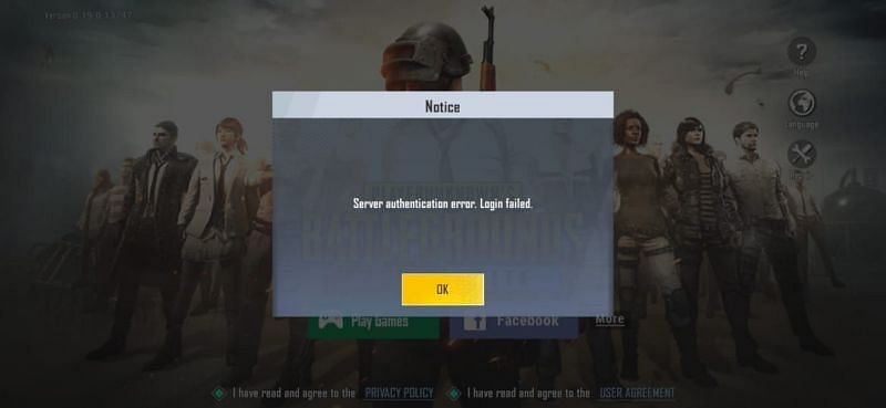 The players of PUBG Mobile lite are facing the same error