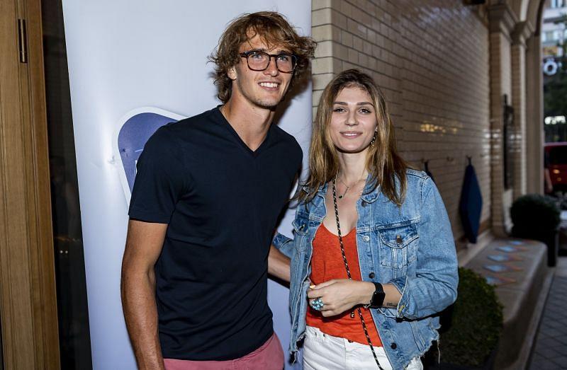 Alexander Zverev and ex-girlfriend Olga Sharypova