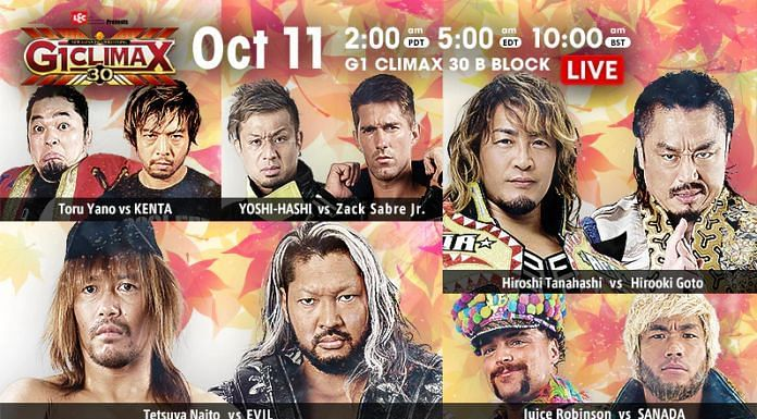 The B Block standings get tighter on G1 Climax 30 Night 14.