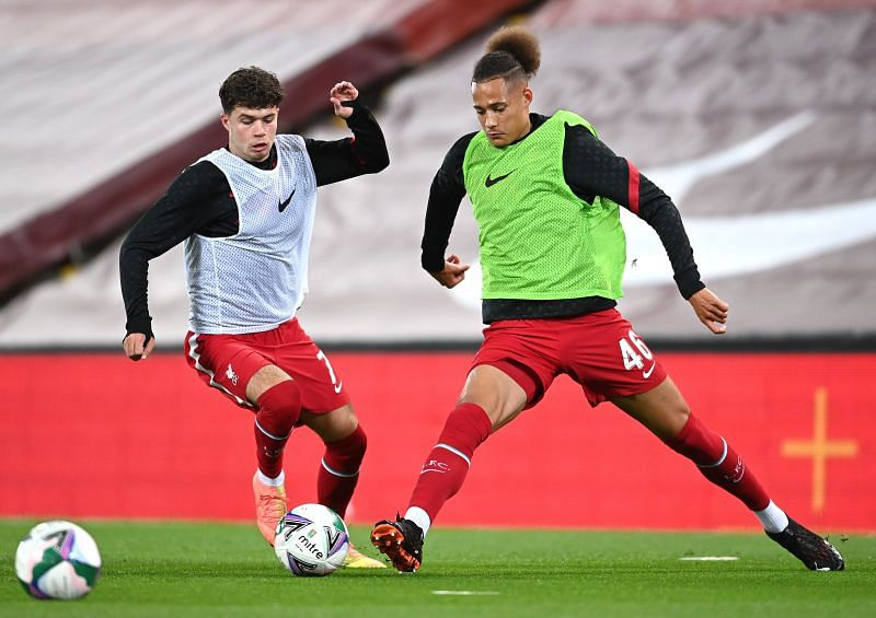 Neco Williams (L) and Rhys Williams (R) were among the young talents on show at Anfield
