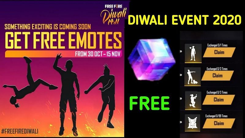 Free Fire Diwali event 2020: Free emotes and magic cube (Image Credits: AS GAMER / YouTube).
