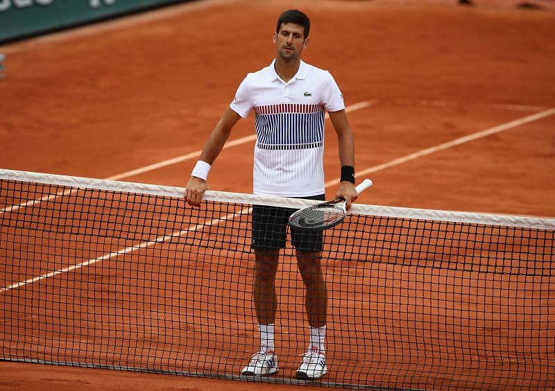 Novak Djokovic at the 2017 French Open