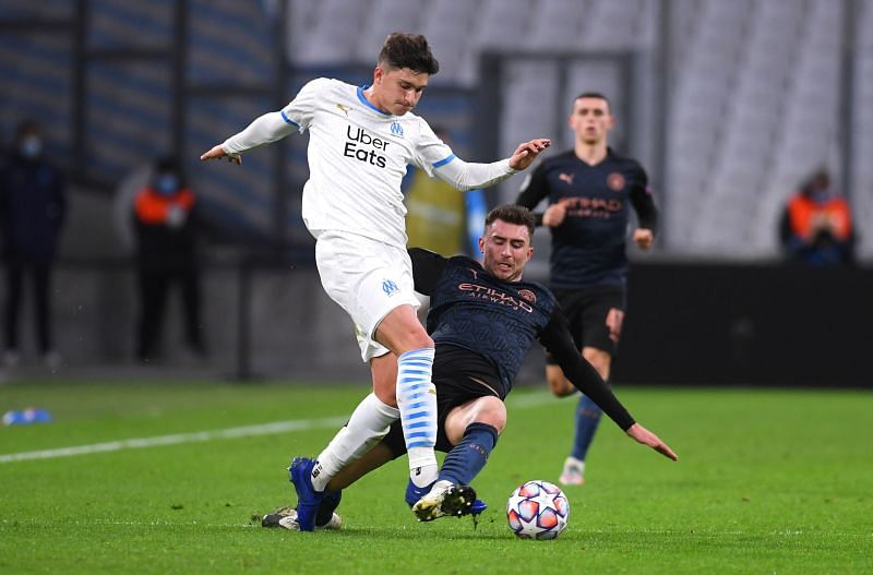 Aymeric Laporte returned to action against Marseille.