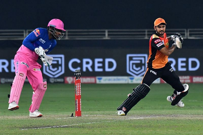 Manish Pandey played a magnificent knock for the Sunrisers Hyderabad last night in IPL 2020 (Image Credits: IPLT20.com)