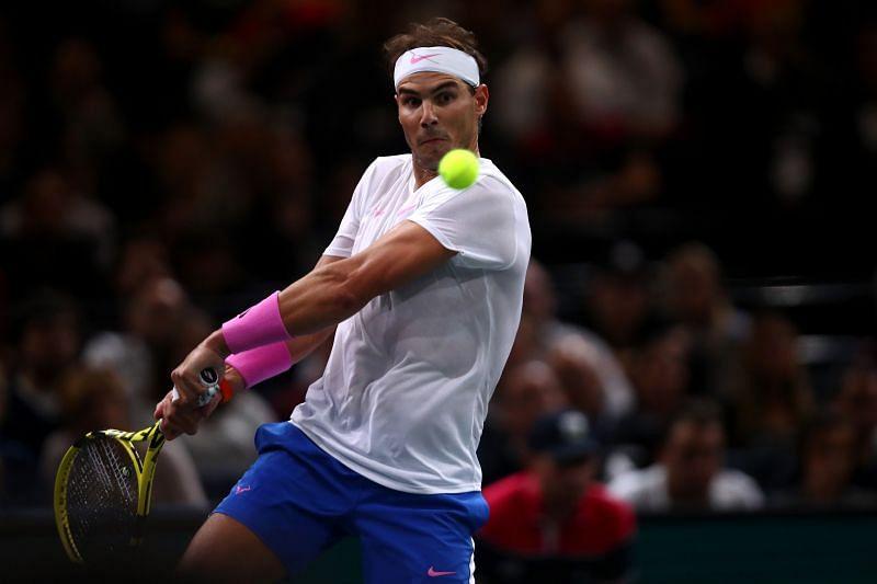 Rafael Nadal at the 2019 Paris Masters