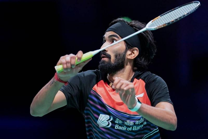 Kidambi Srikanth in action at the Denmark Open 2020