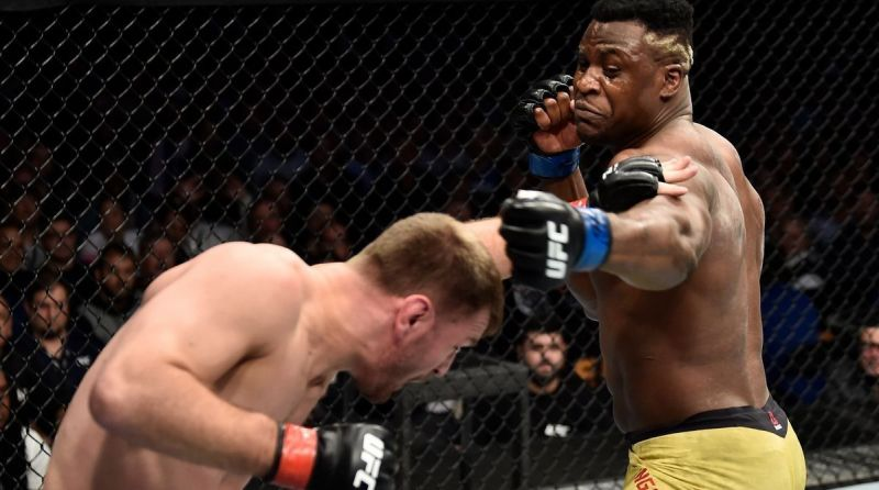 Francis Ngannou and Stipe Miocic went the distance in their first encounter