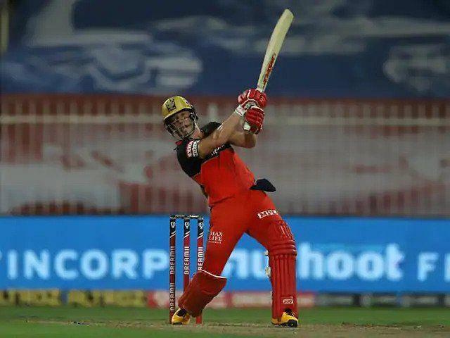 AB de Villiers smashed a brilliant 55 runs off just 22 balls against RR