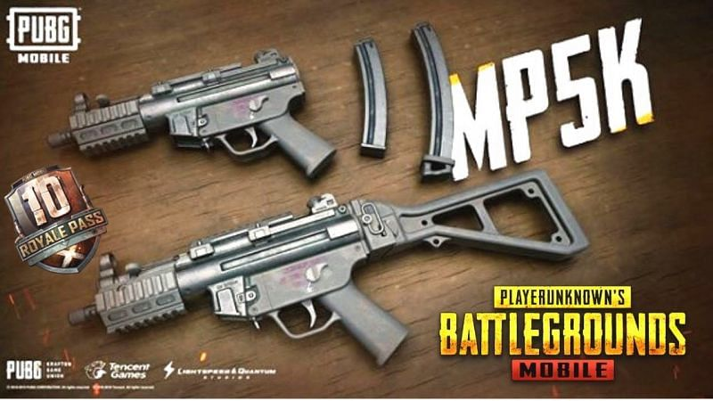 The MP5K can be equipped with four attachments in PUBG Mobile