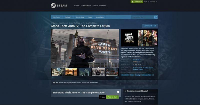 GTA IV on Steam