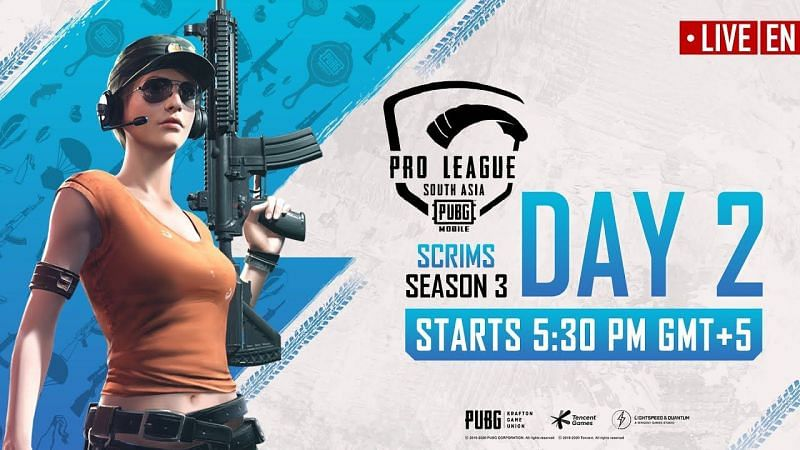 PMPL Season 2 South Asia Scrims