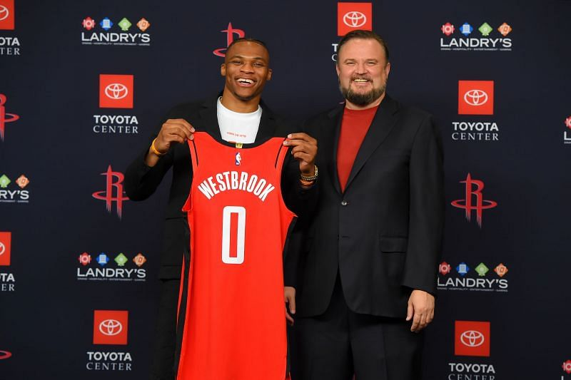 Russell Westbrook and Daryl Morey