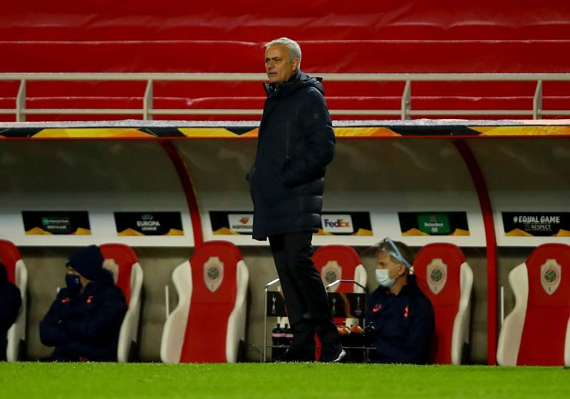 Spurs boss Jose Mourinho made four changes at half-time during tonight