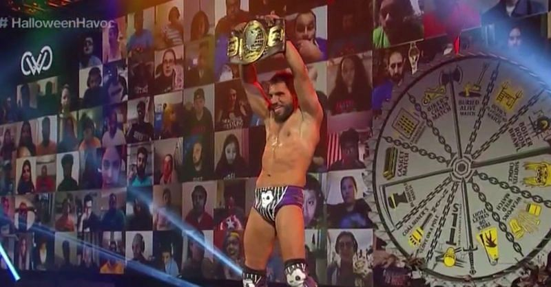 Johnny Gargano became the WWE NXT North American Champion at the Halloween Havoc event
