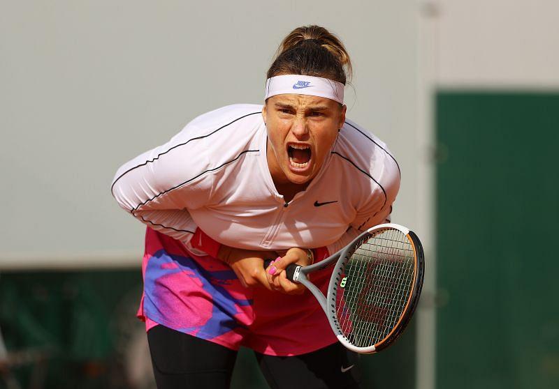 Aryna Sabalenka at the 2020 French Open