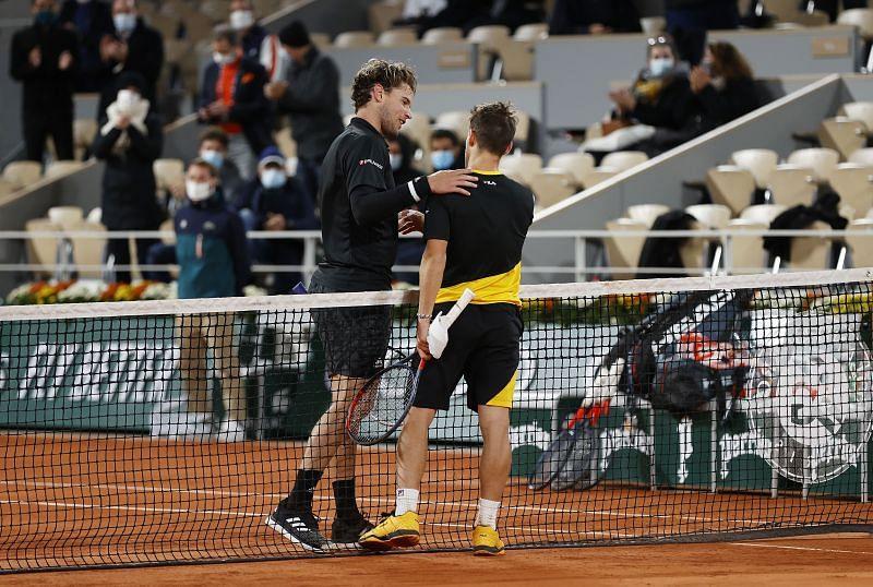 Dominic Thiem and Diego Schwartzman