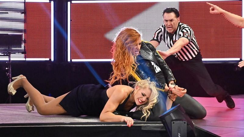 Lacey Evans feuded with Becky Lynch after WrestleMania 35