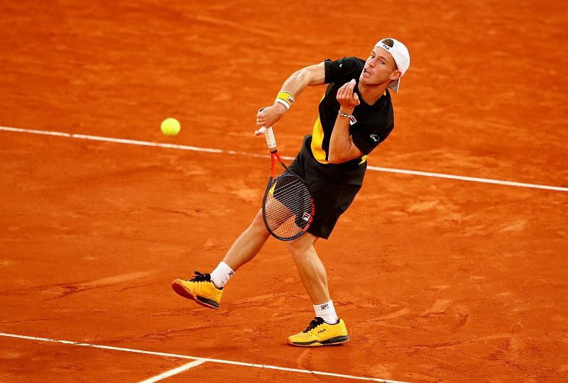 Diego Schwartzman during his semifinal match against Rafael Nadal at the 2020 French Open