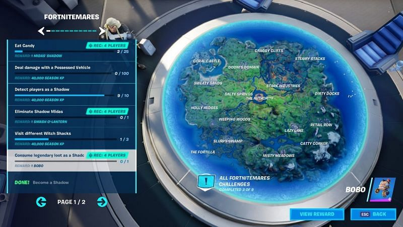 Fortnitemares challenges offer Bobo back bling as a free reward in Fortnite