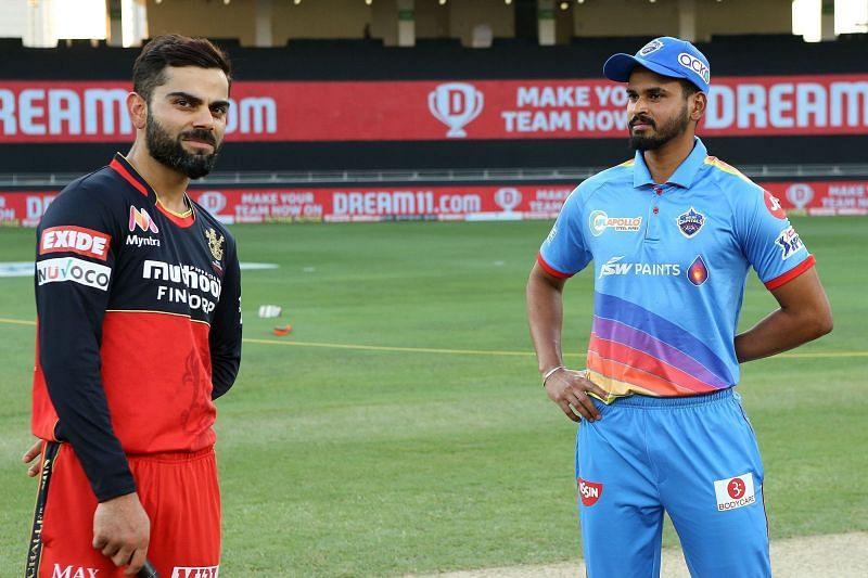 Virat Kohli and Shreyas Iyer faced off for the first time in IPL 2020 [PC: iplt20.com]
