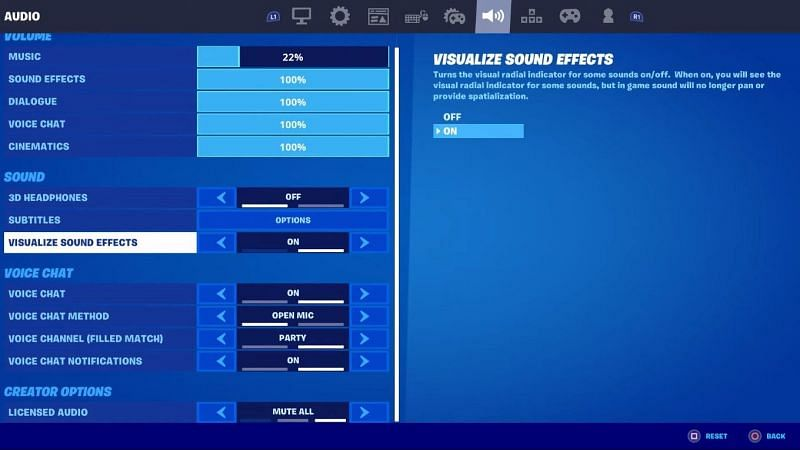 Turn on visualize sound option in settings to find Wolverine easily in Fortnite