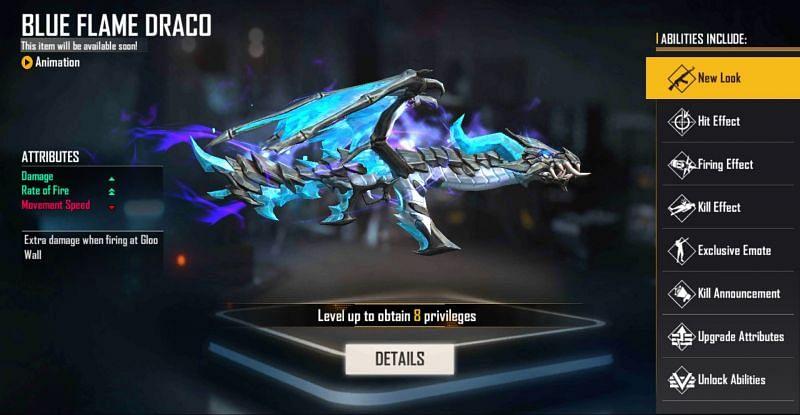 AK47 Blue Flame Draco