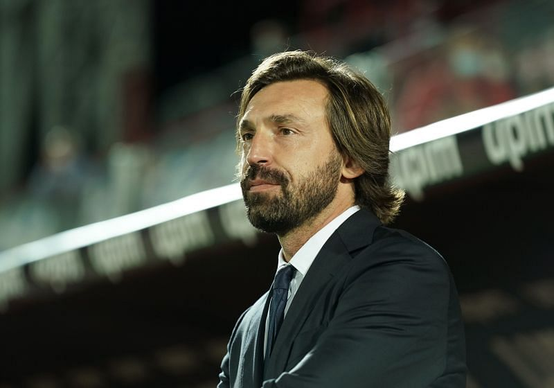 Juventus manager Andrea Pirlo looks on