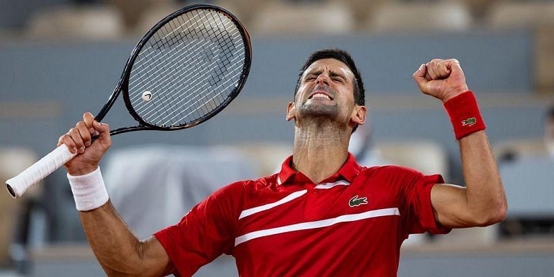 Novak Djokovic after booking his spot in the semi-final