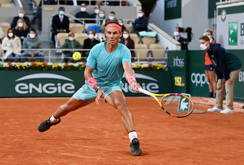 Rafael Nadal in action during the semifinal