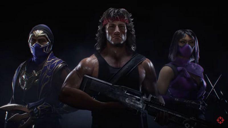 Rain, Rambo and Mileena in the Mortal Kombat Ultimate trailer (Image Credits: IGN/ YouTube)