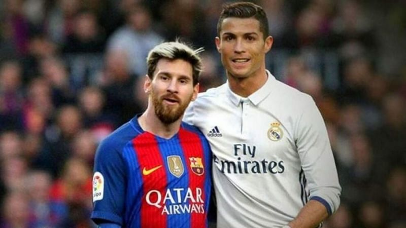 Cristiano Ronaldo (right) and Lionel Messi (left)