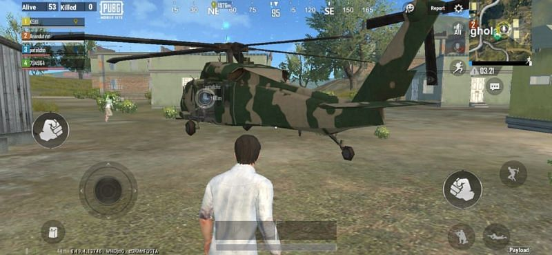 An image of the armed helicopter