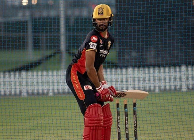 Devdutt Padikkal batting in the nets (royalchallengers.com)