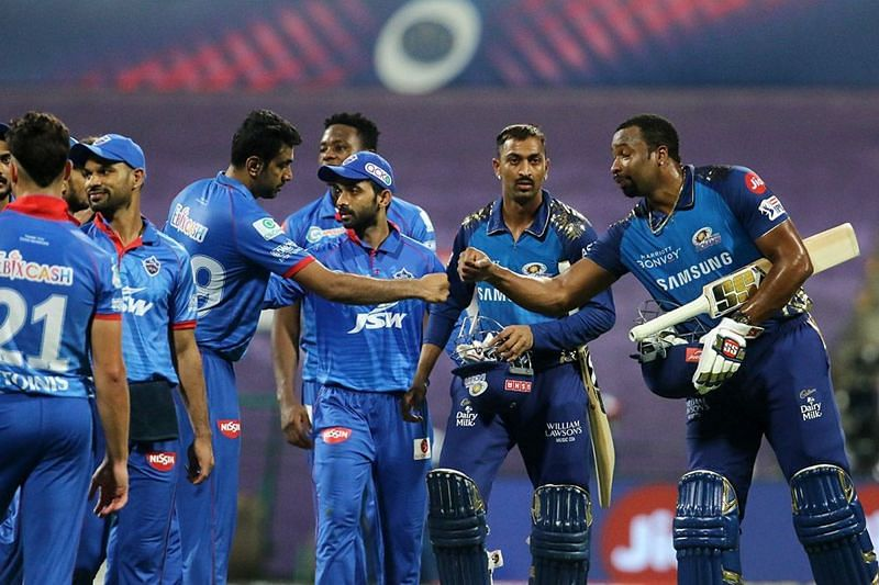 Mumbai Indians picked up a 5-wicket win against the Delhi Capitals