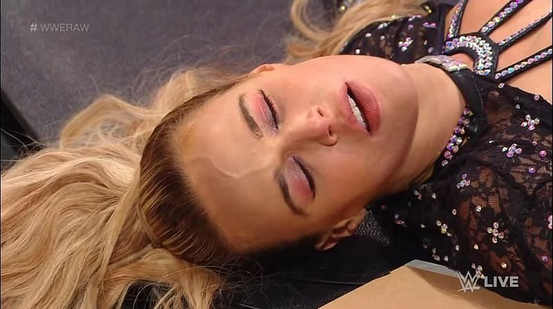 Lana was put through a table yet again on this week