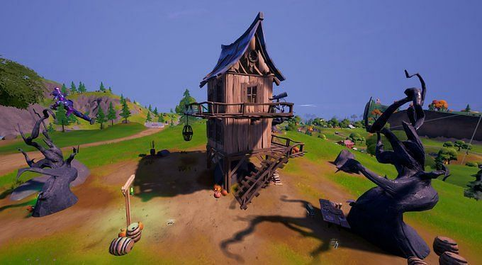 Witch Brooms can now be used in Fortnite with the newest update (Image credit: FortTory/Twitter)