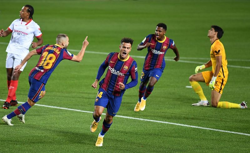 Coutinho scored his first goal of the season