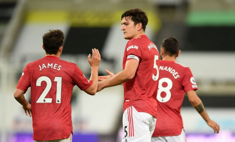 Harry Maguire put up an improved performance against Newcastle United