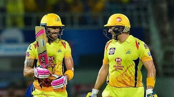 Faf du Plessis and Shane Watson delivered the goods for CSK against KXIP