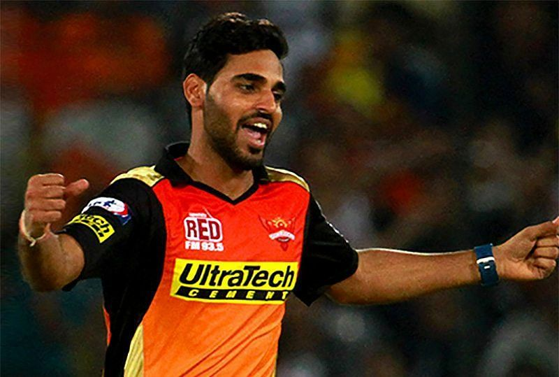 Bhuvneshwar Kumar suffered an injury against CSK