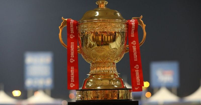 The coveted IPL trophy RR won the inaugural IPL in 2008