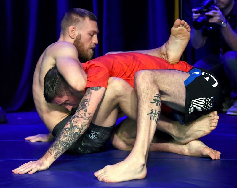 Conor McGregor and his coach John Kavanagh