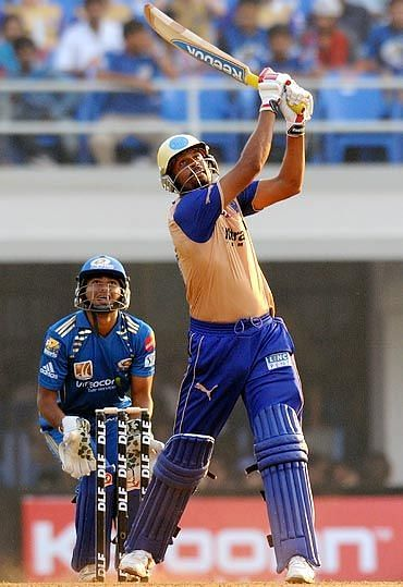 Yusuf Pathan en route to his 100 against MI in IPL 2010
