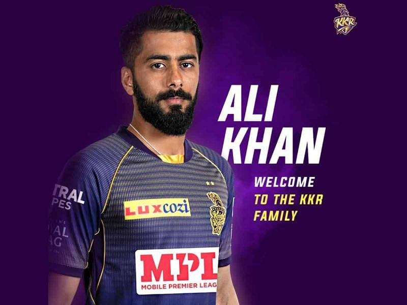 KKR pacer Ali Khan ruled out for the remainder of IPL 2020 with an injury (Image Credits: Twitter)