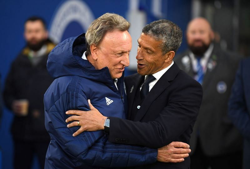 Neil Warnock and Chris Hughton last met when managing Cardiff City and Brighton in the Premier League
